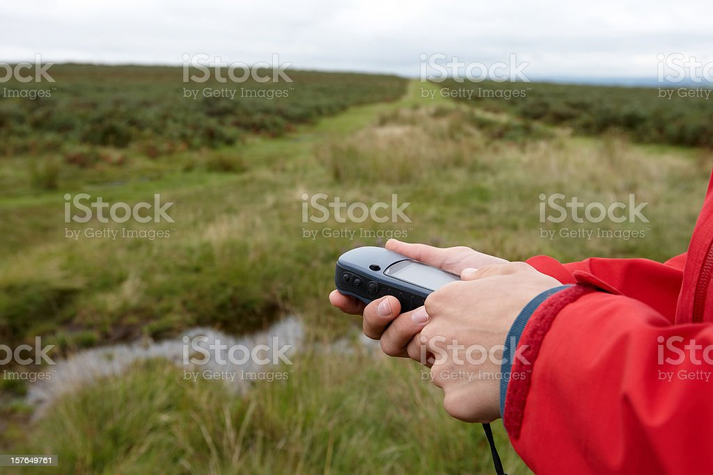 Definitive image for geocaching stock photo