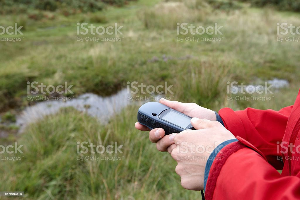 Definitive image for geocaching royalty-free stock photo