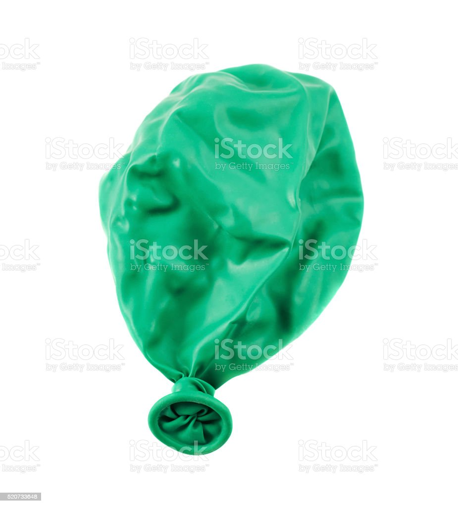 Deflated balloon isolated stock photo