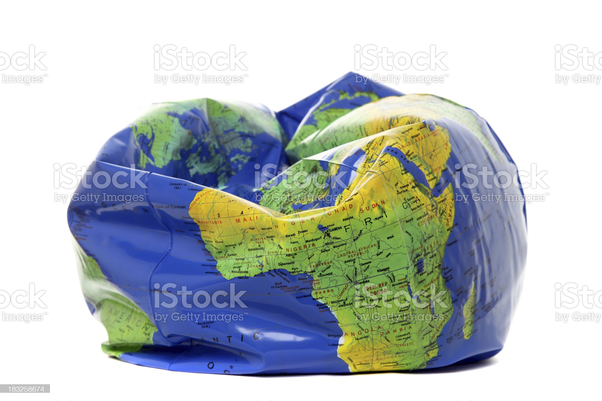 Deflated earth royalty-free stock photo