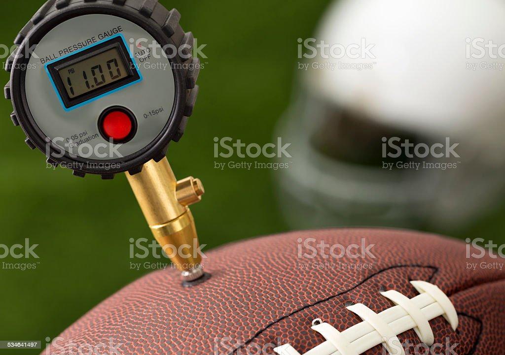 Deflated Football stock photo