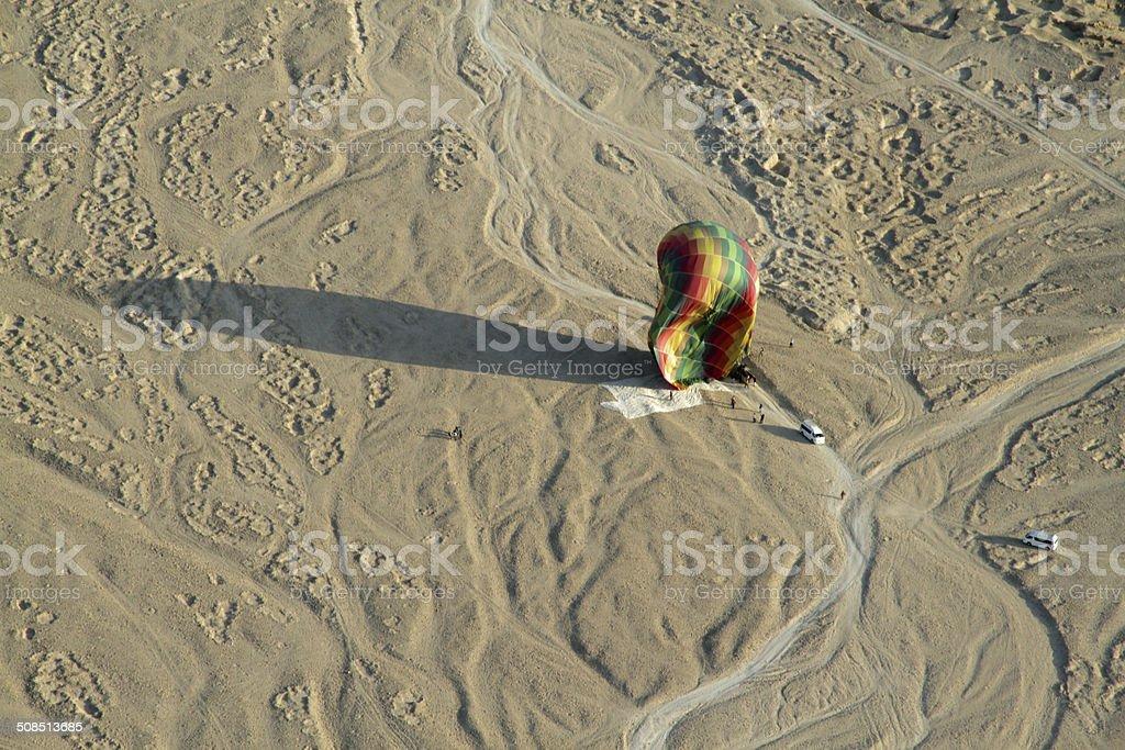 Deflated Hot Air Balloon stock photo
