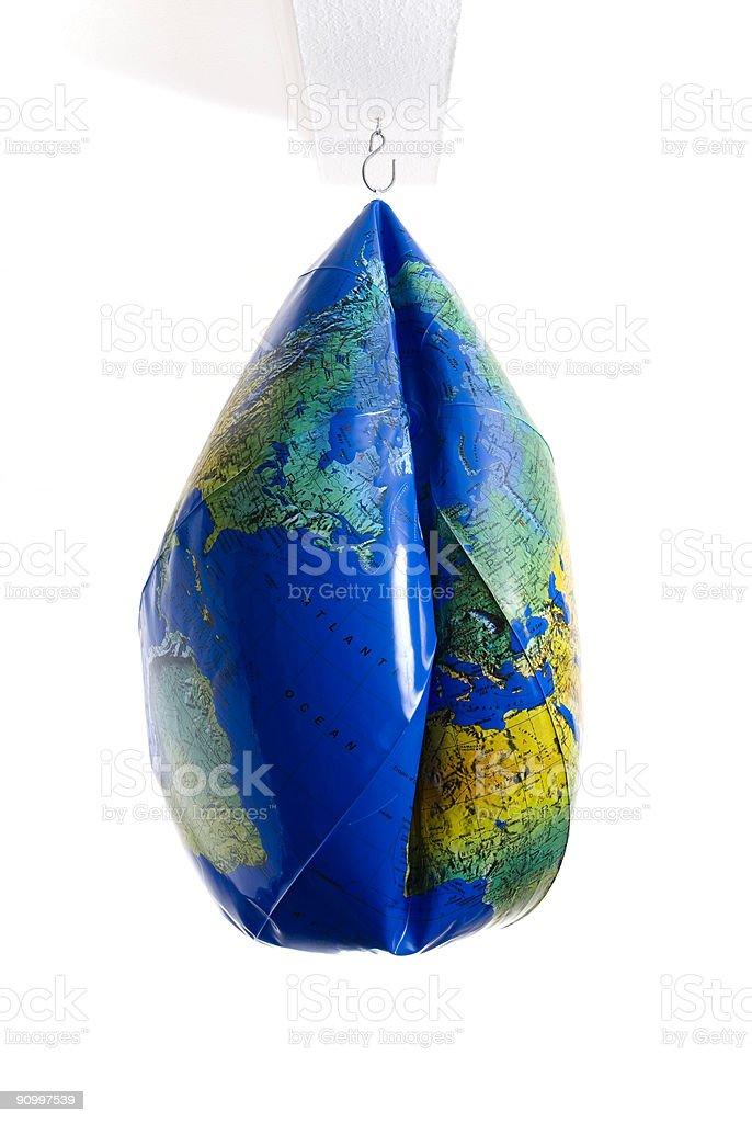Deflated royalty-free stock photo