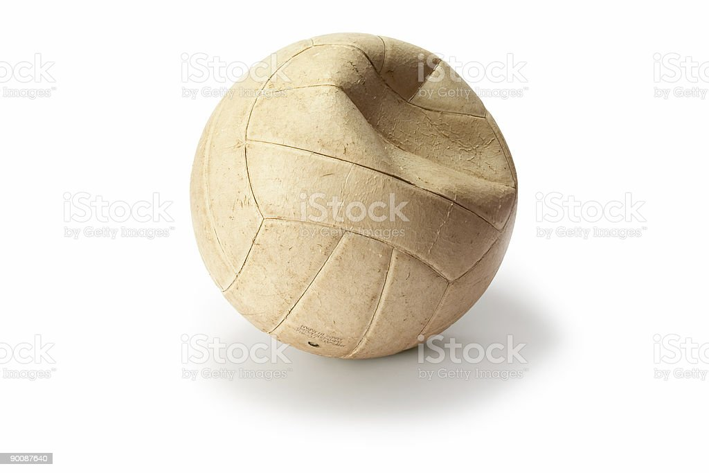 Deflated Volleyball 1 stock photo
