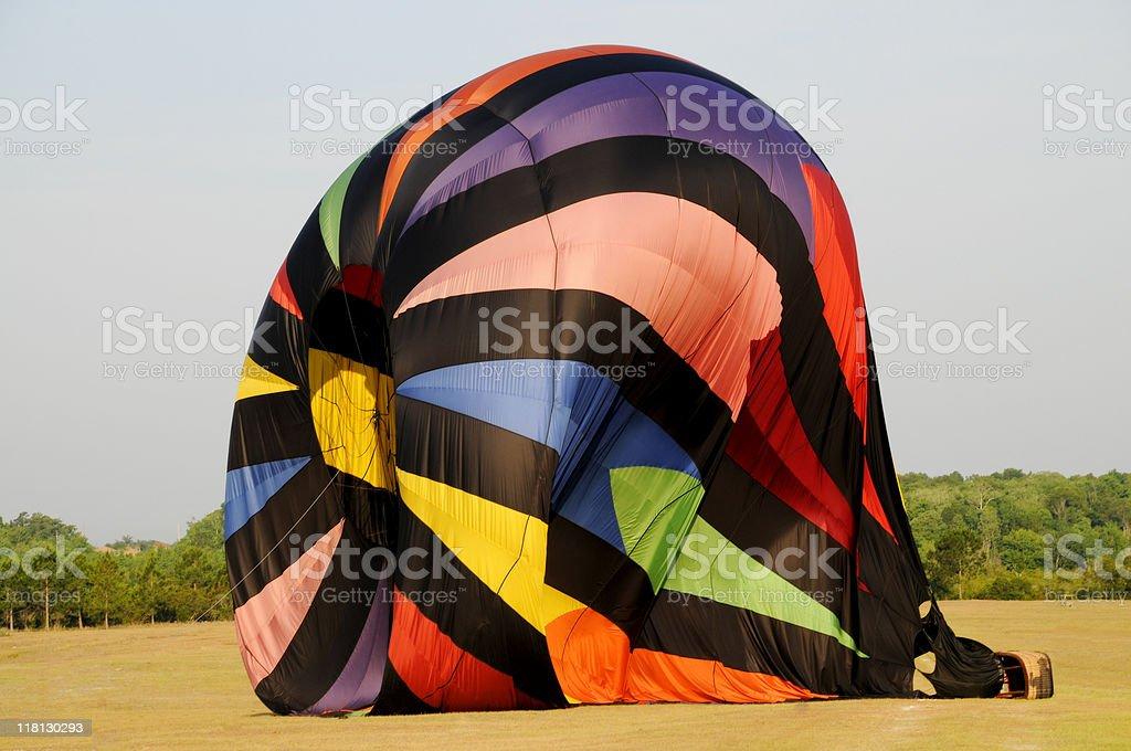 Deflating Hot Air Balloon Close up stock photo