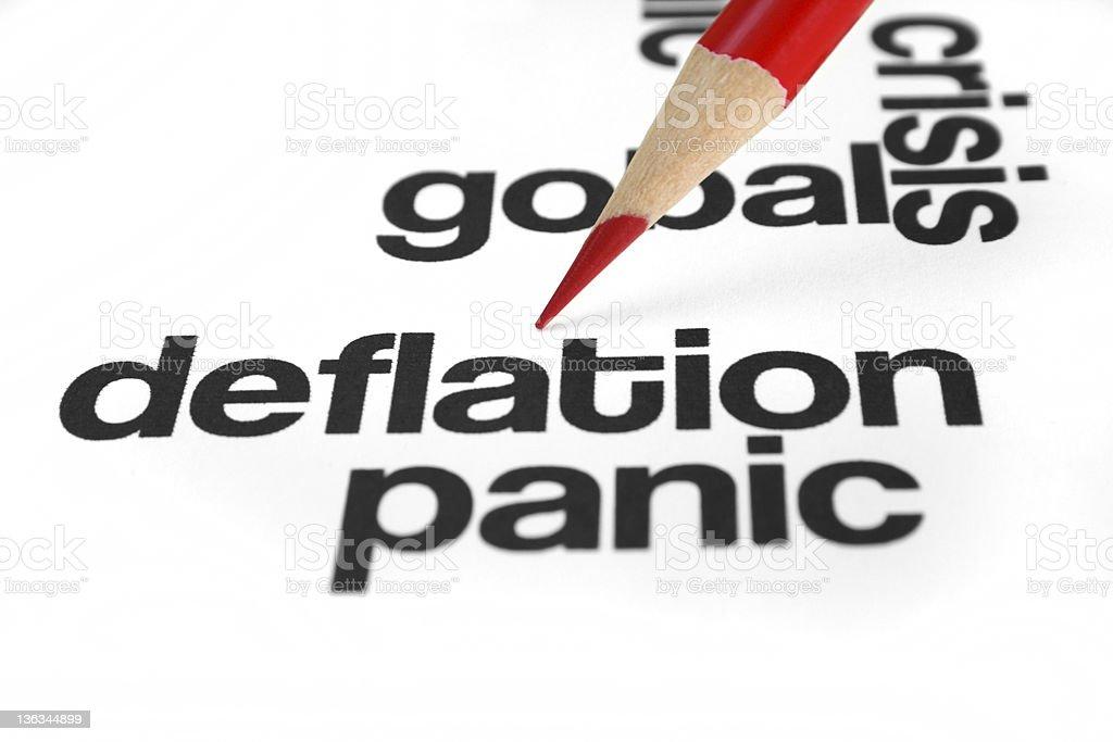 Deflation royalty-free stock photo
