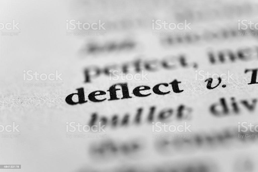 Deflect stock photo