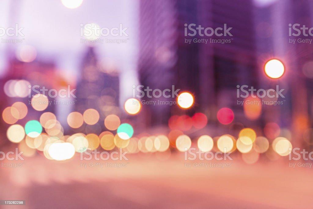 Defocus light on nyc royalty-free stock photo