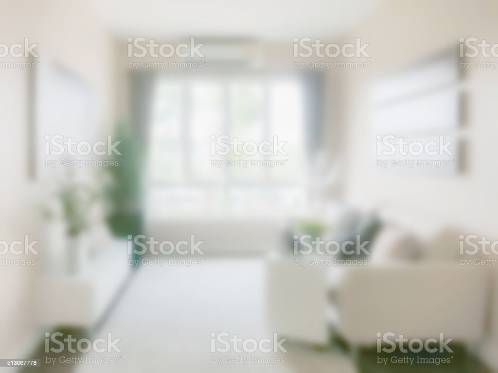 Defocus Living room interior in modern style stock photo
