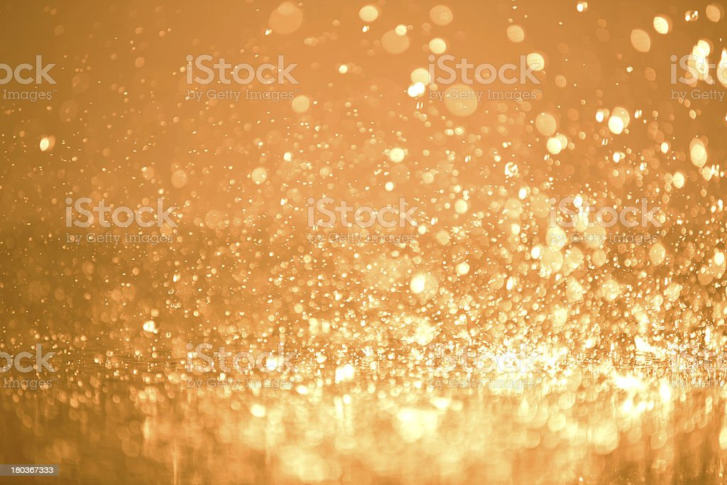 Defocus of raindrops and splatter - Background stock photo
