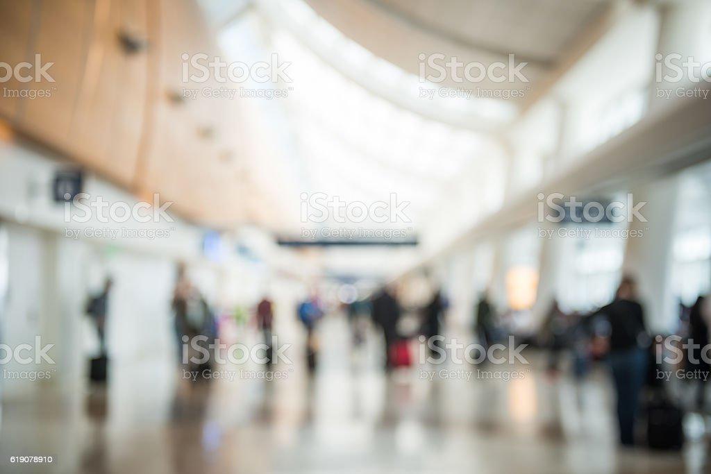 Defocused Airport Termianl Background stock photo
