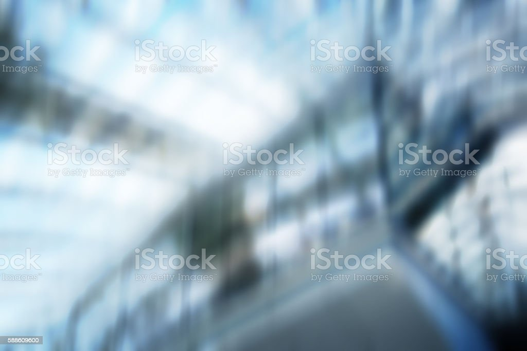Defocused Architectural Building Facade, Business Background Blur, Diminishing Perspective stock photo