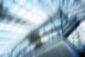 Defocused Architectural Building Facade, Business Background Blur, Diminishing Perspective