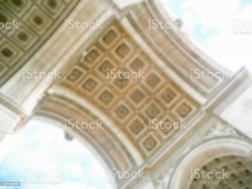 Defocused background of Arc de Triomphe in Paris. stock photo