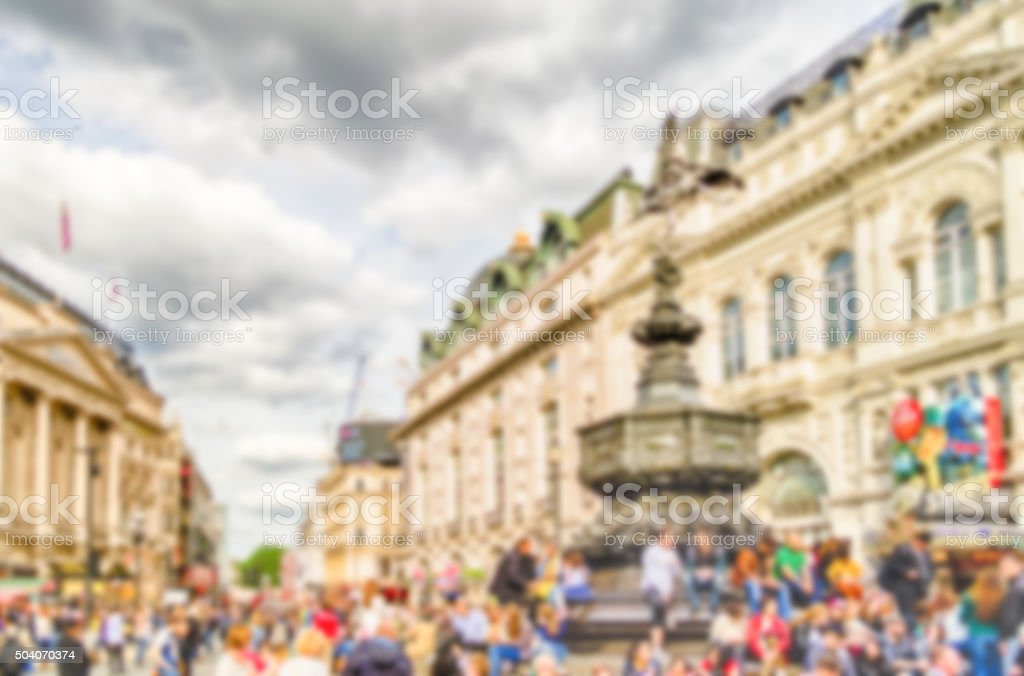 Defocused Background of Piccadilly Circus, London stock photo