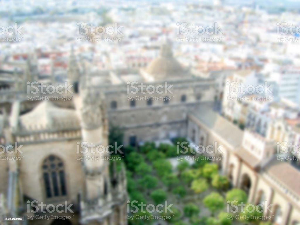 Defocused Background of Sevilla. Intentionally blurred stock photo