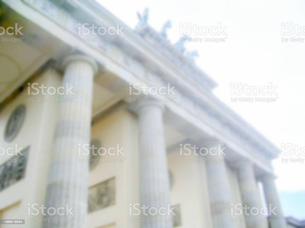 Defocused Background of the Brandenburg Gate in Berlin. stock photo