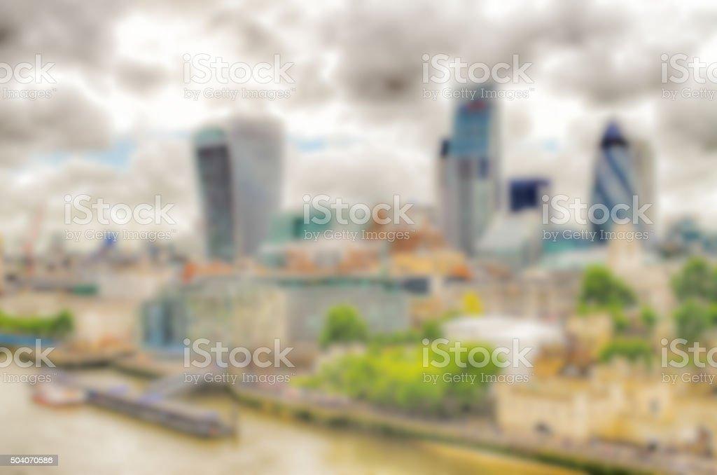 Defocused Background of the London Skyline stock photo