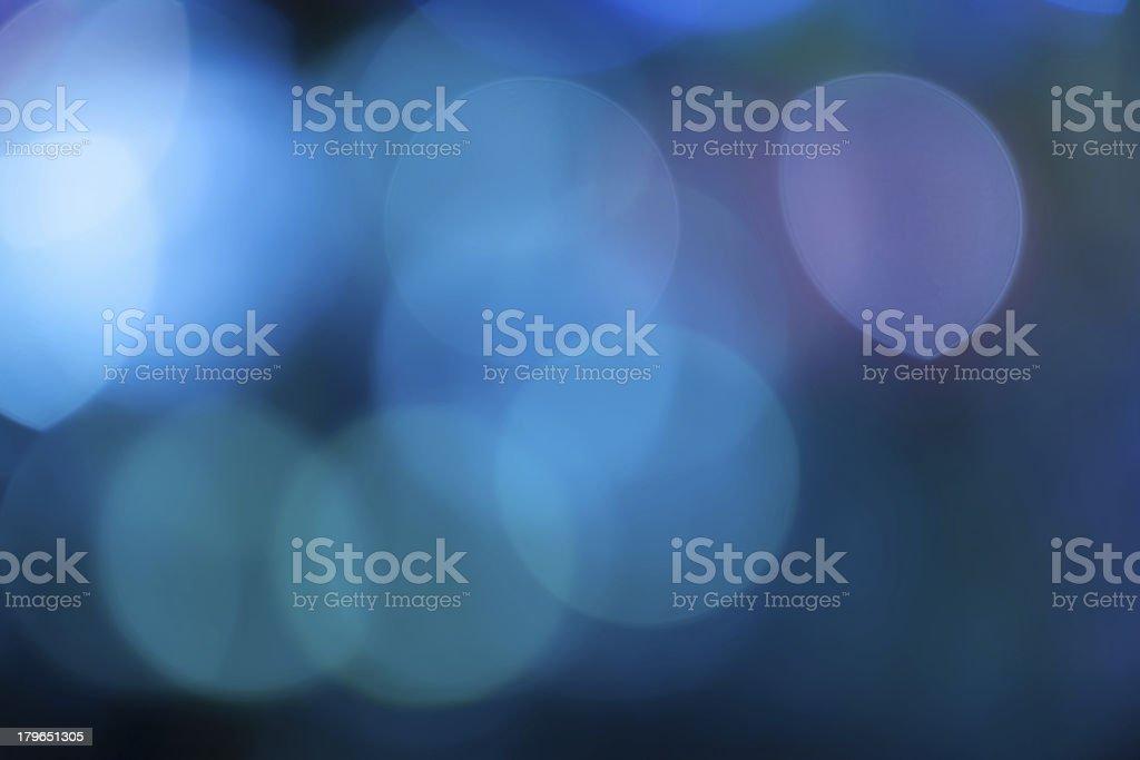 Defocused blue lights stock photo