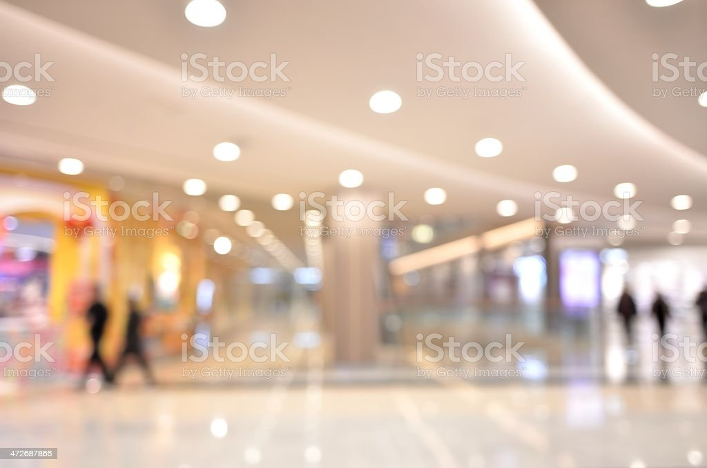 Defocused blur background of shopping mall stock photo