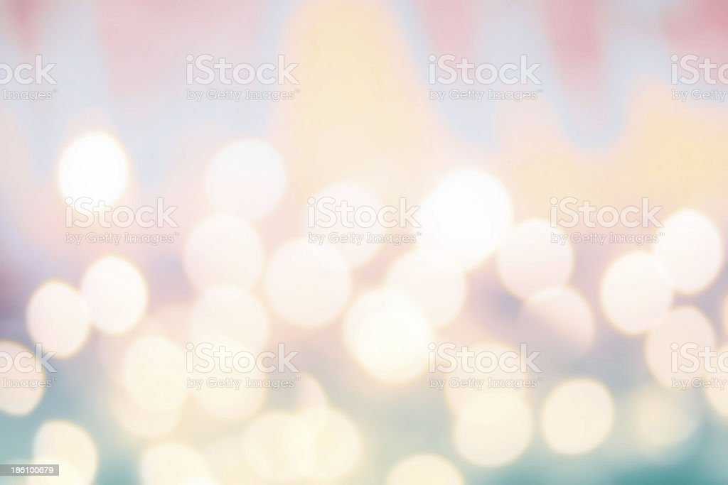 Defocused Bokeh twinkling lights background. Colorful   Abstract royalty-free stock photo