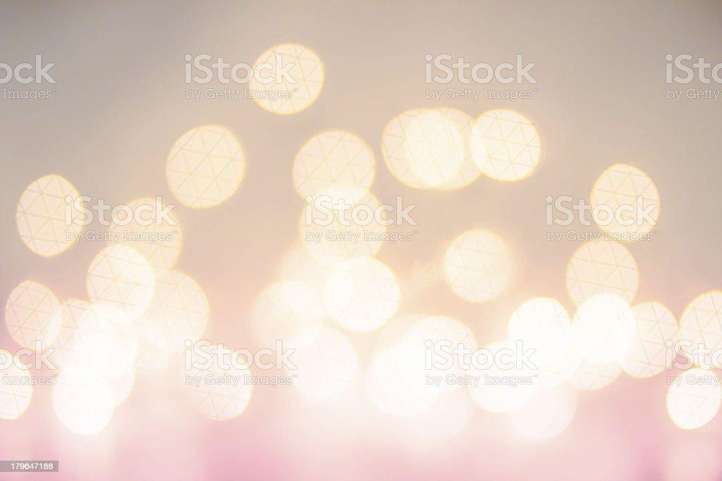 Defocused Bokeh twinkling lights Vintage background. Christmas royalty-free stock photo