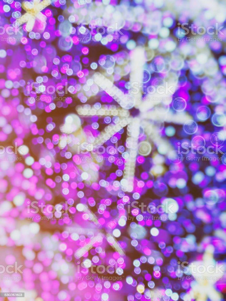 Defocused Christmas blur lights background stock photo