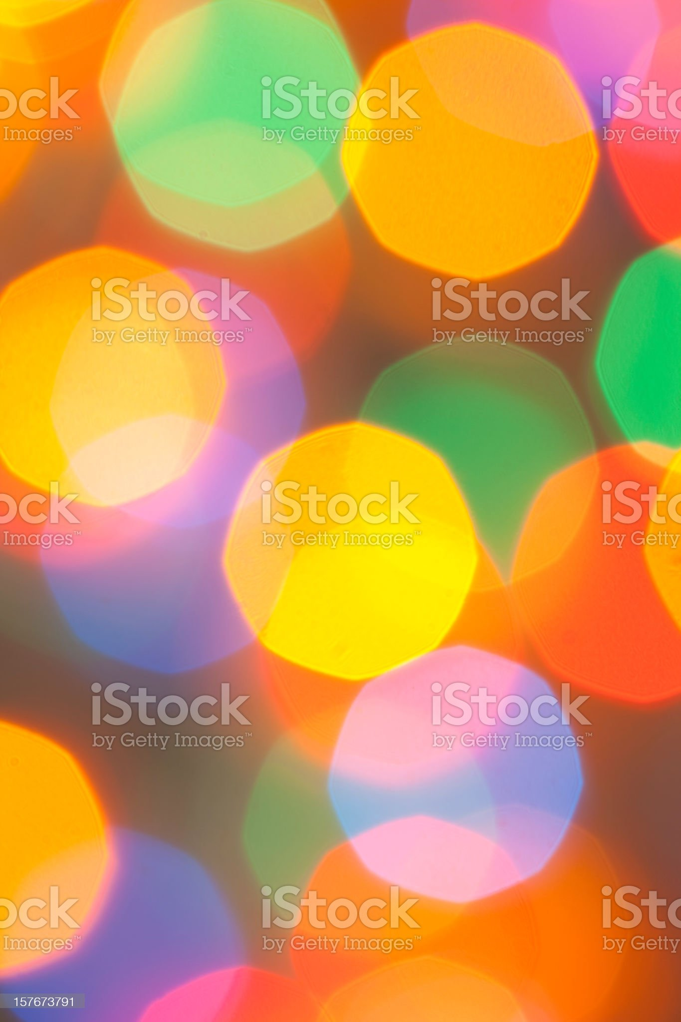 Defocused Christmas lights background royalty-free stock photo