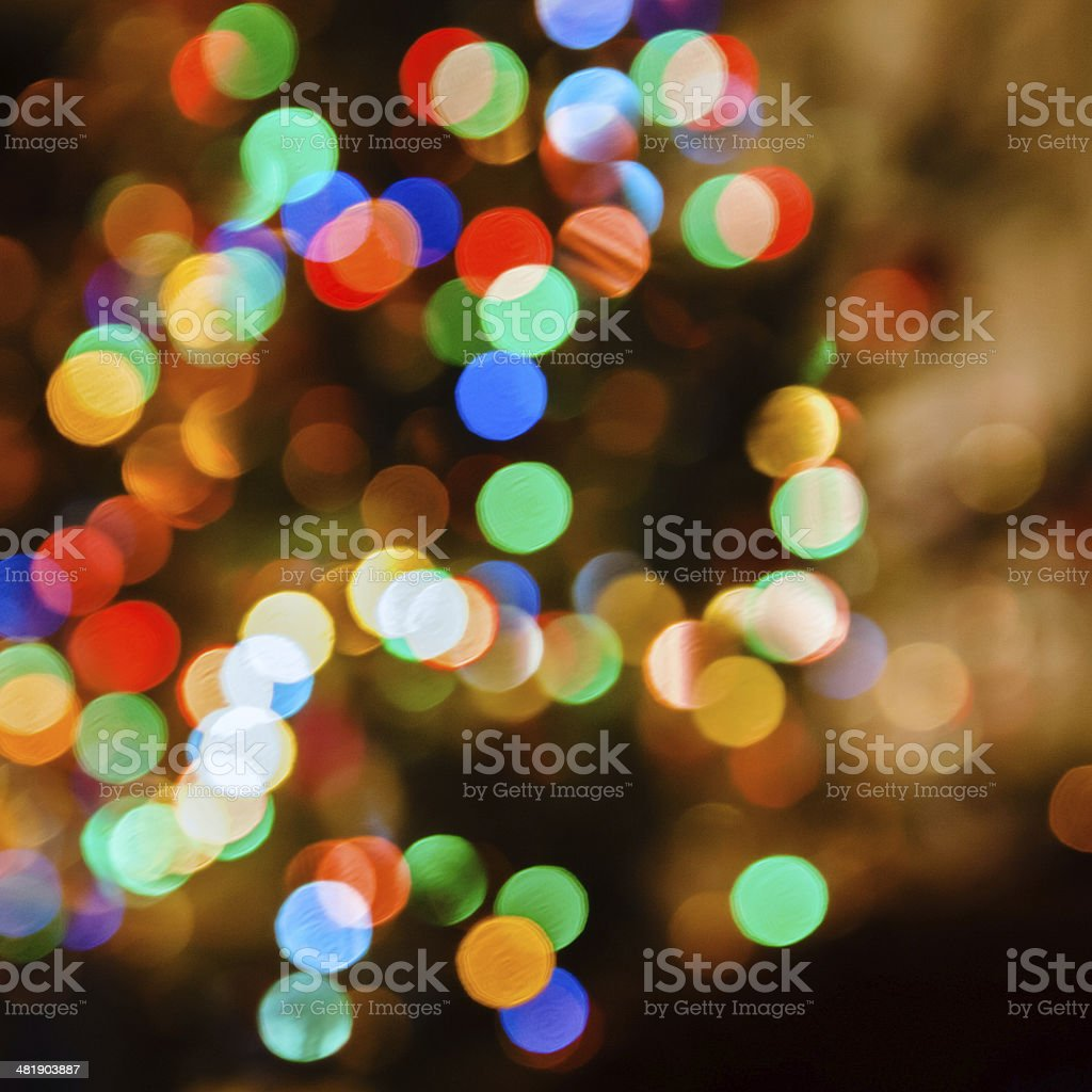 Defocused christmas lights background stock photo