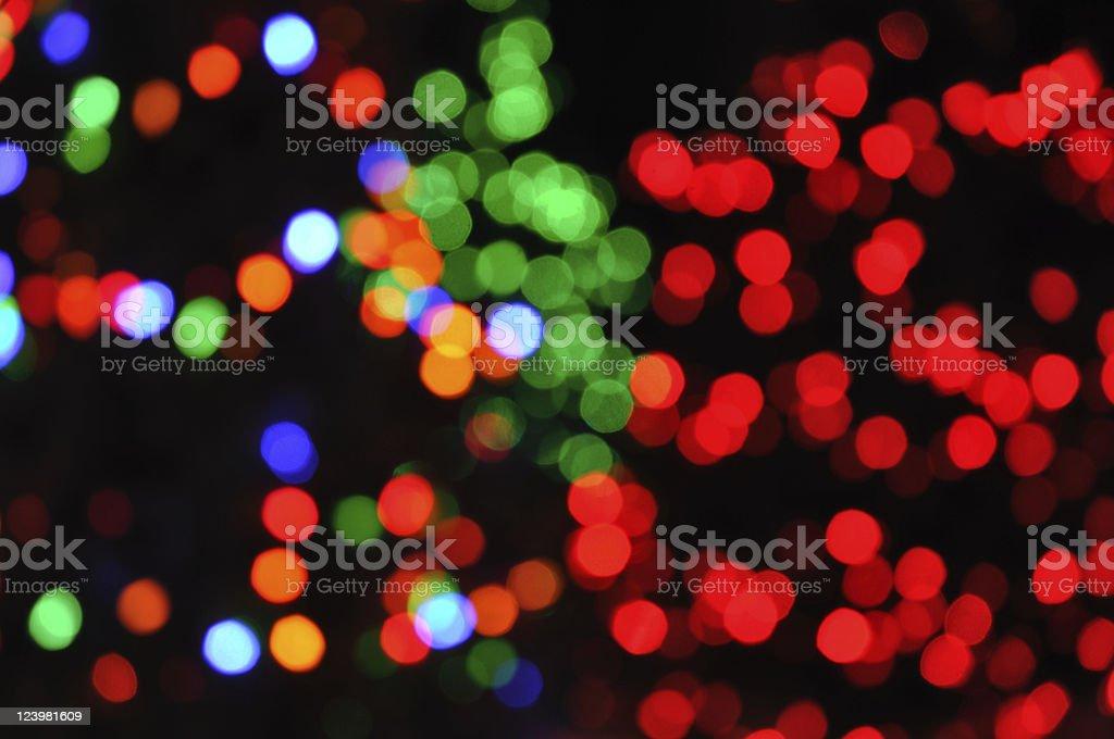 Defocused Christmas Lights royalty-free stock photo