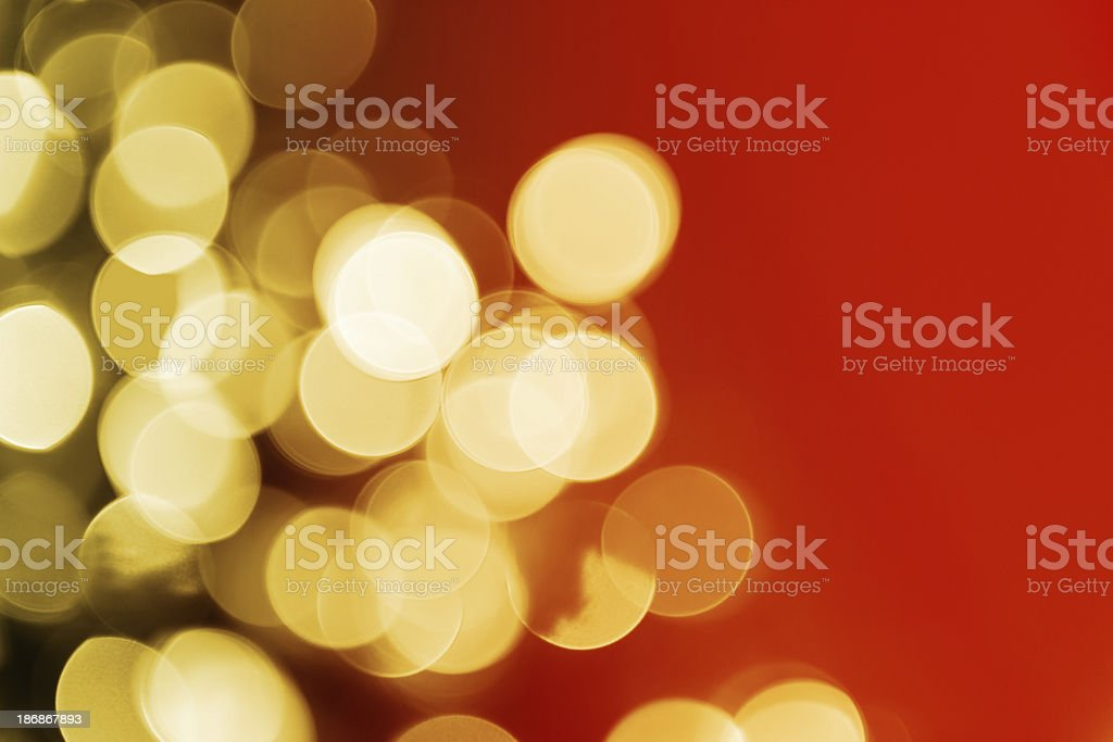 Defocused Christmas Lights royalty-free stock photo