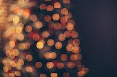 Defocused Christmas tree lights.