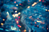 Defocused City Lights In Paris