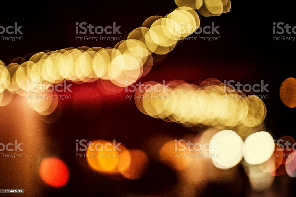Defocused City Lights royalty-free stock photo
