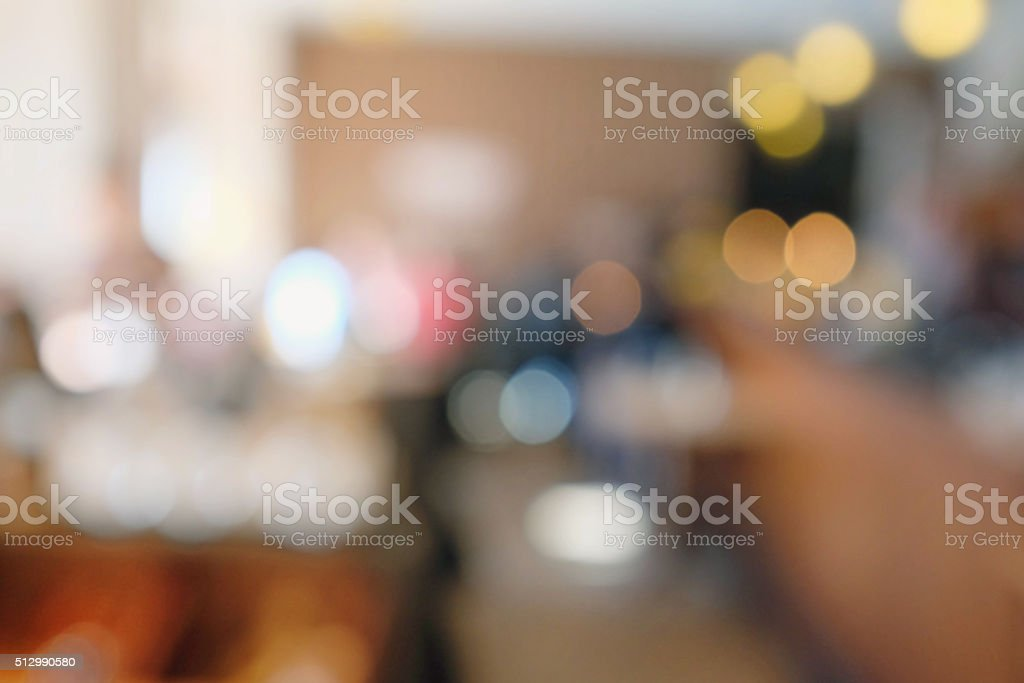 Defocused coffee shop background with daylight stock photo