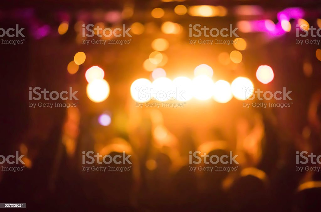 defocused colorful stage lights during music concert stock photo