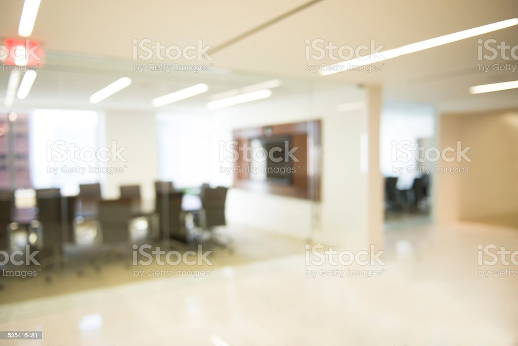 Defocused Conference Room Background stock photo