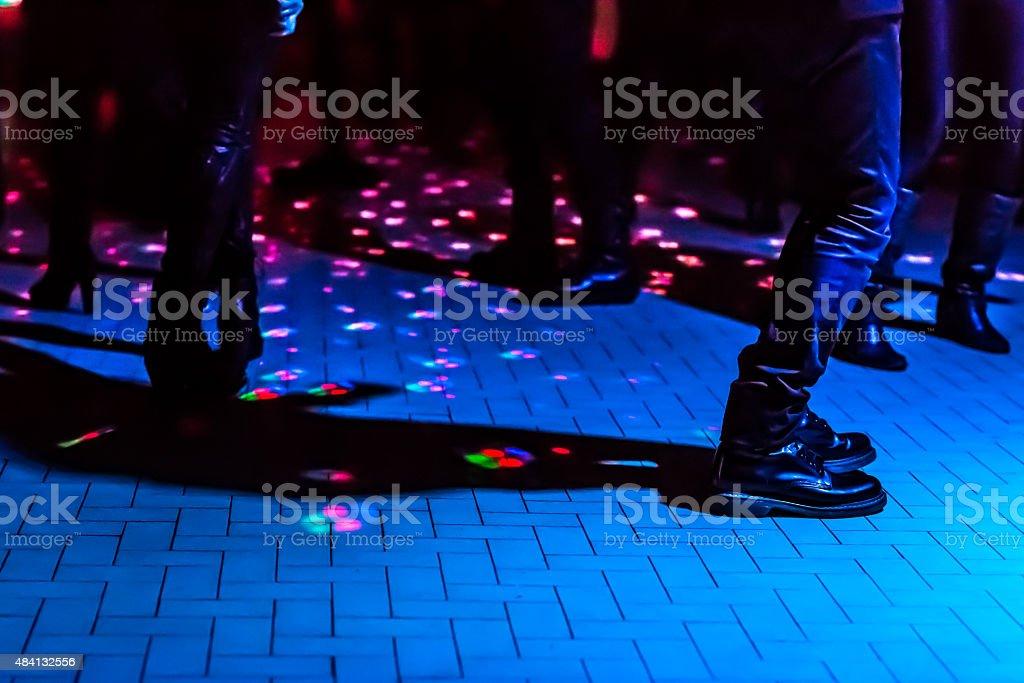 defocused dance floor stock photo