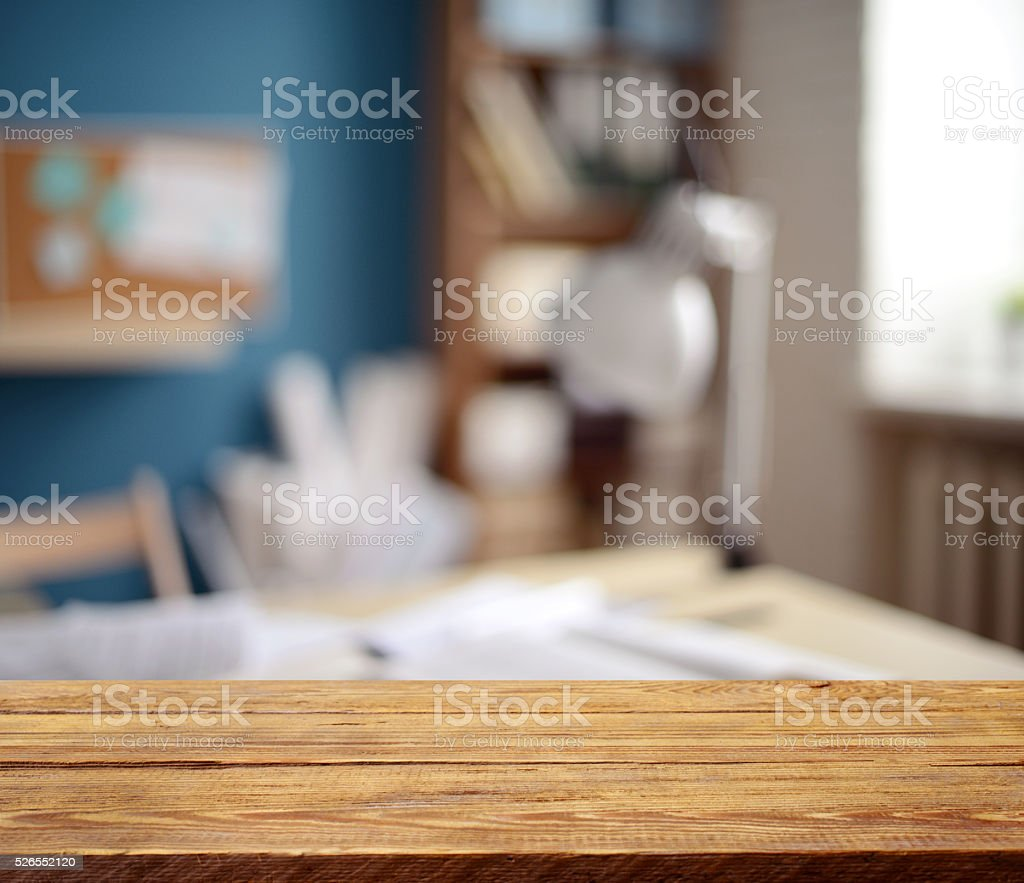 Defocused empty office interior stock photo