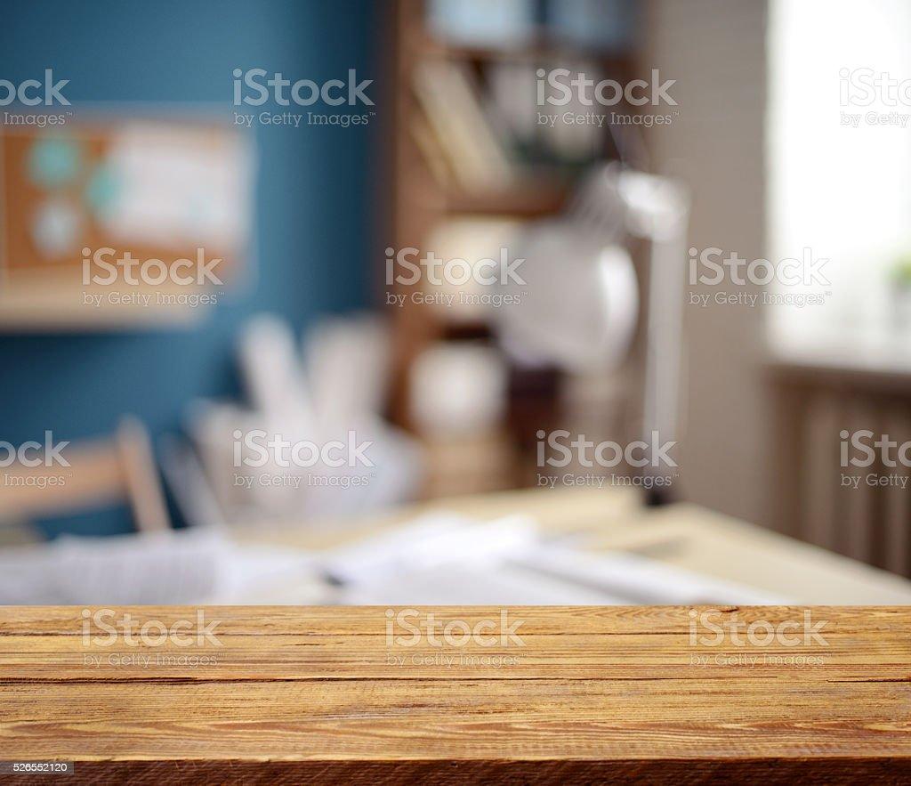 Defocused empty office interior stock photo