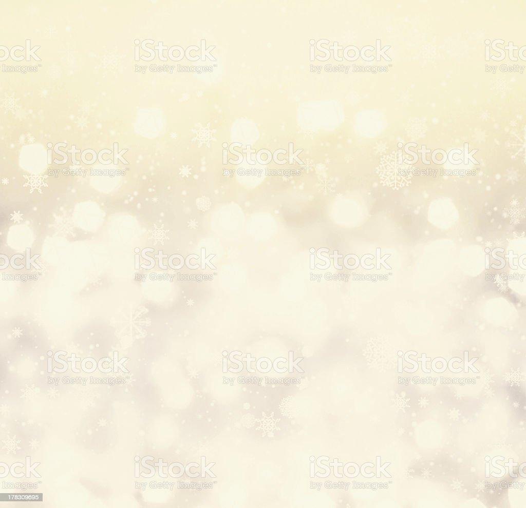 Defocused gold Bokeh light Vintage background.  Christmas back stock photo