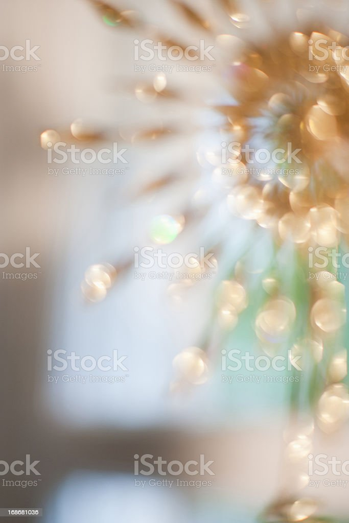 Defocused gold decoration royalty-free stock photo