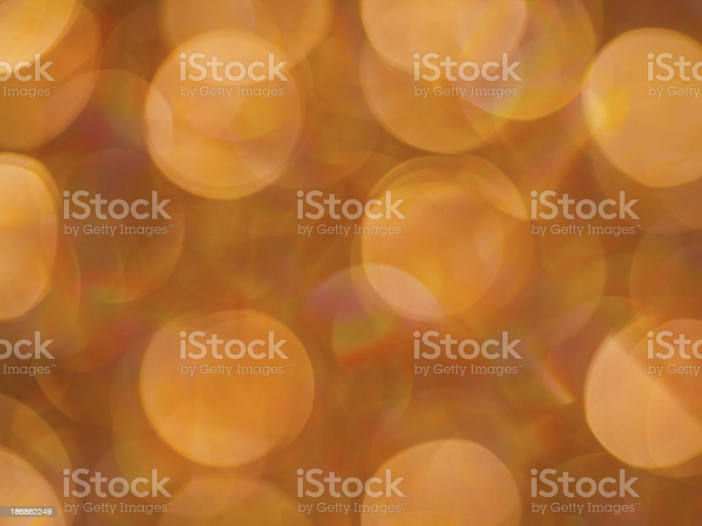Defocused golden colored lights royalty-free stock photo