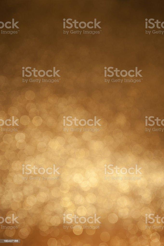 defocused golden lights stock photo