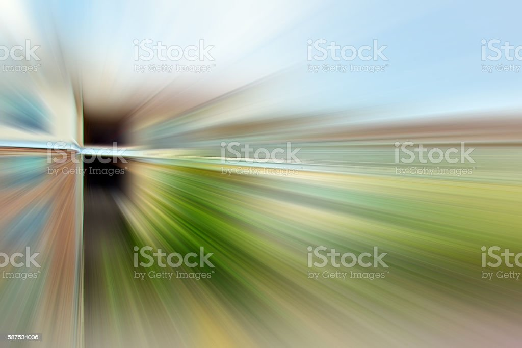 Defocused Green Landscape Explosion Background, 3XL stock photo