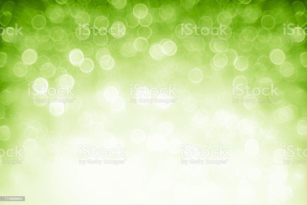 Defocused green lights stock photo