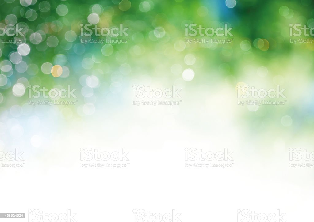 Defocused green lights stock photo