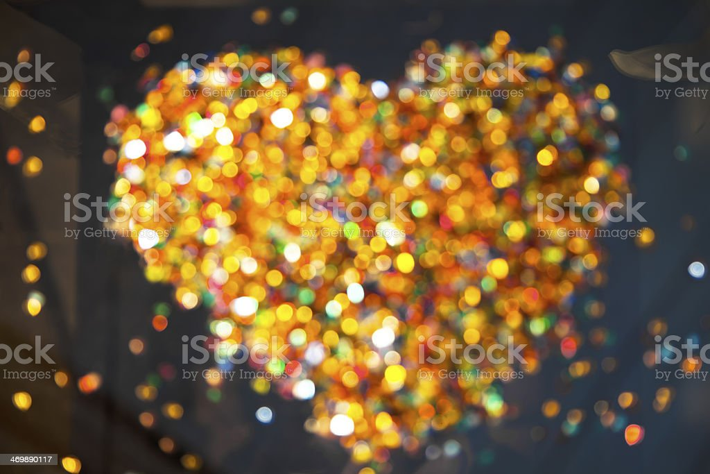 Defocused illuminated colorful glass beads. royalty-free stock photo