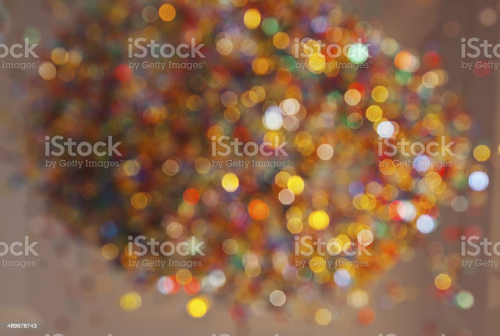 Defocused illuminated colorful glass beads. royalty-free stock photo
