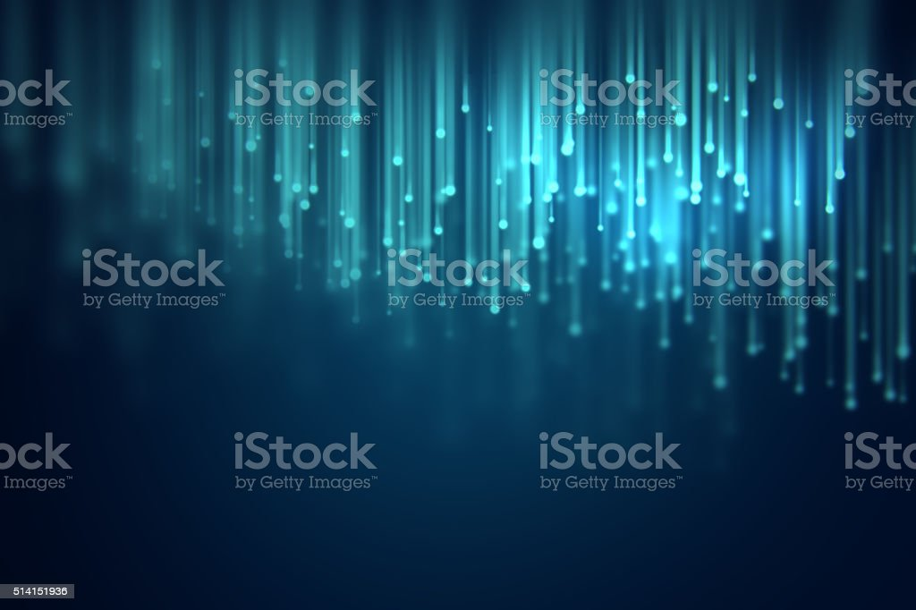 defocused image of  fiber optics lights abstract background stock photo